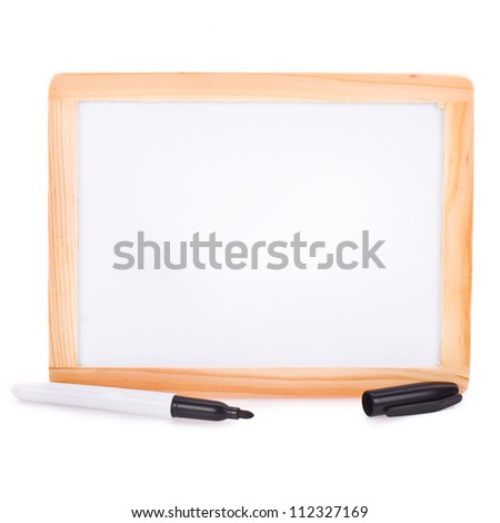 message board, isolated on white background .
