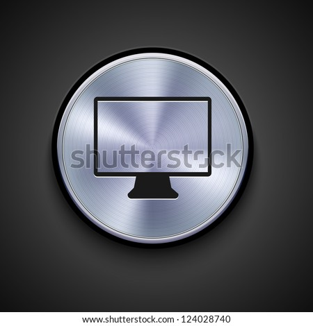 metal icon on gray background