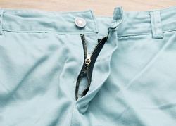 metal zipper of the pants,Pants zipper crash.