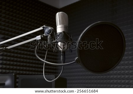 microphone in the radio Studio