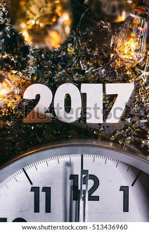 stock photo: 2017 clock