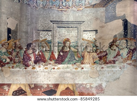 Milan -  last super of Christ from Saint Lorenzo church