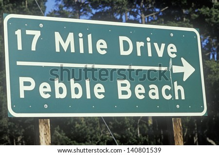 17 Mile Drive Sign