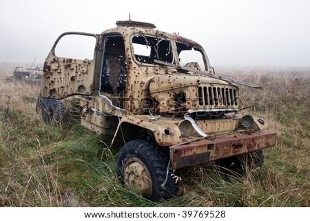 military cargo car shot
