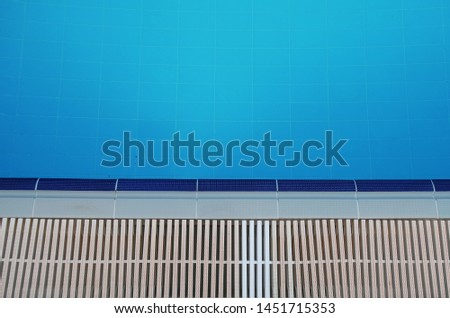 Minimal blue and navy blue swimming pool and white gratings background which mosaic tiles                      #1451715353