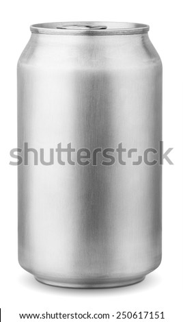 330 ml aluminum can isolated on white background with clipping path #250617151