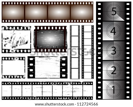 35mm and 135 still camera and cinema film strips