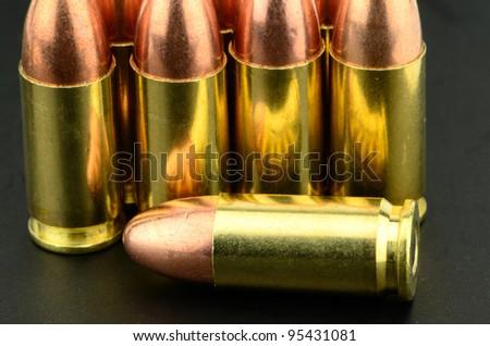 9mm copper bullet pistol Ammunition