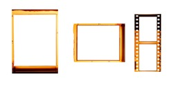 (35,120 mm.) film collections frame.With white space.film camera.