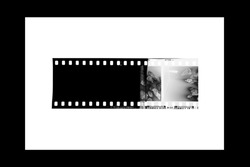 (35 mm.) film collections frame.With white space.film camera.