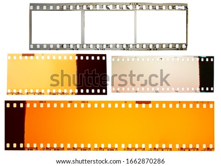 (35 mm.) film collections frame.With white space.film camera. Photo stock ©