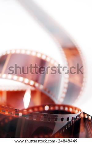 35mm film on white