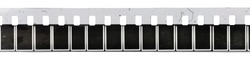 8mm film or movie strip on white background, just blend in your content or frames