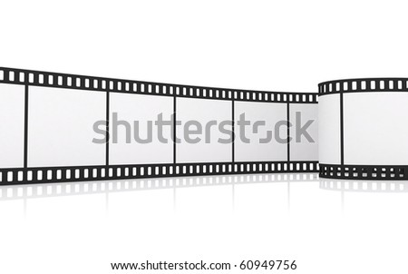 35mm film strip - stock photo