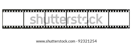 35 mm film strip, isolated on white