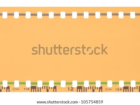 35 mm film strip isolated on white background