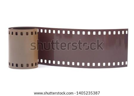 35mm filmstrip on white background