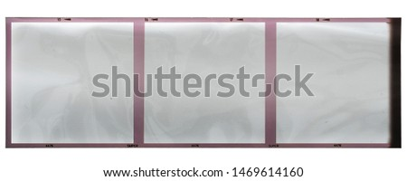120mm filmstrip with empty frames on white background