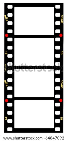 35mm format movie filmstrip standard film picture frames large format