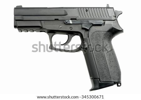 9mm Handgun isolated on white background