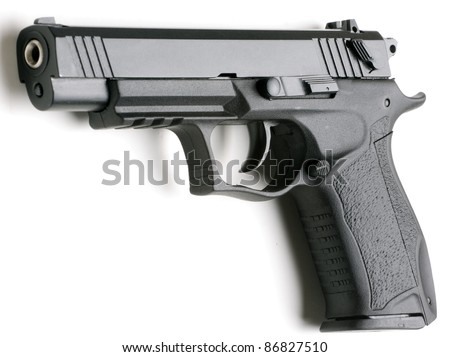 7, 62  mm handgun  isolated on white background
