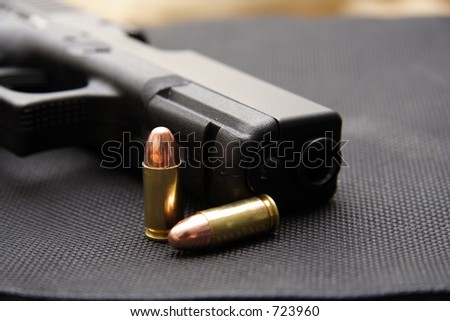 9mm pistol & bullets