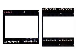 (35 mm.) Vintage film frame With white space. film camera.