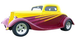 1934 Model 40 Hotrod isolated with clipping path