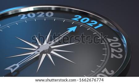 2021 - Modern Compass (3D Rendering)