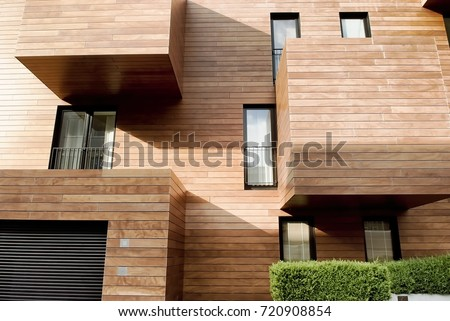 Modern contemporary wood sided building