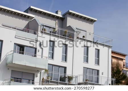 Modern dwelling houses with balconies in Germany #270598277