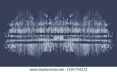 Modern touches to sound waves. Rhythm. Abstract
