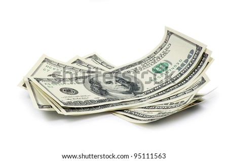 money isolated on a white