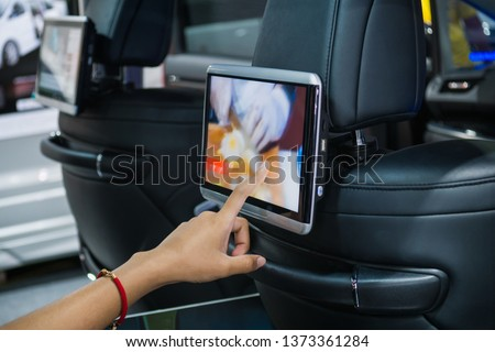 Monitor to entertain the small car. #1373361284