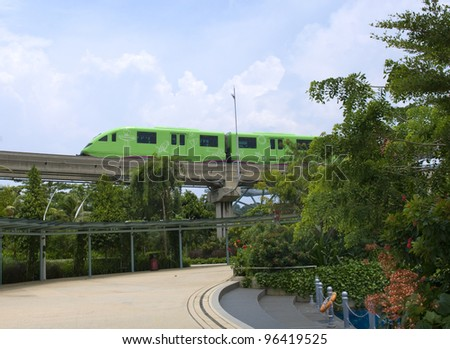 Monorail train from Sentosa island, Singapore