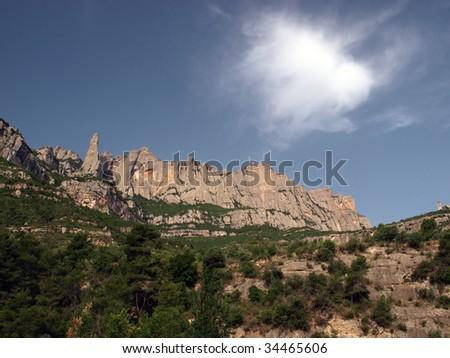 Montserrat is a mountain near Barcelona, in Catalonia. It is the site of a Benedictine abbey, Santa Maria de Montserrat, which hosts the Virgin of Montserrat sanctuary