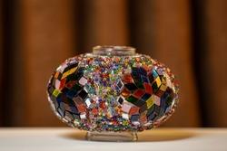 mosaic on glass turkish lights, glass lamp, multi-colored mosaic