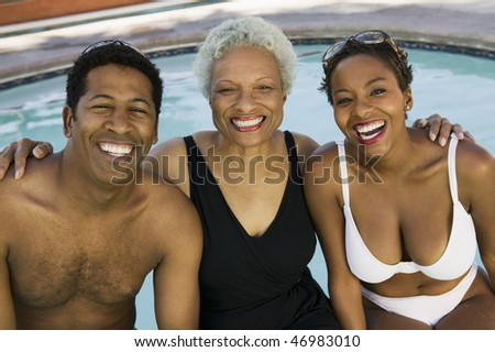 """Mother, Son and Daughter-in-law on Vacation"""