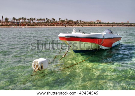 Motor boat in Sharm el Sheikh
