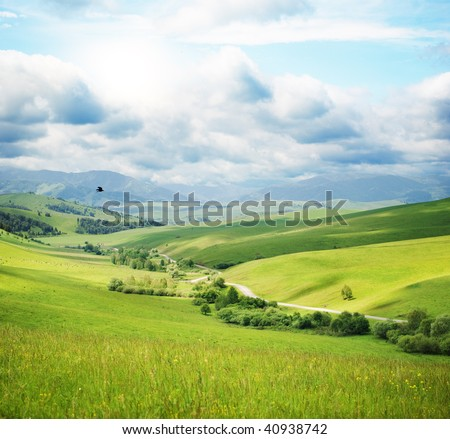 Mountain landscape with road #40938742