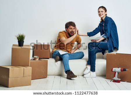moving to a new apartment woman man                               #1122477638