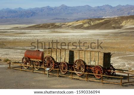 20-Mule Wagon at Harmony Borax Works, Death Valley National Park, Nevada, USA