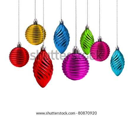 Multi color Christmas decoration set rainbow spectrum