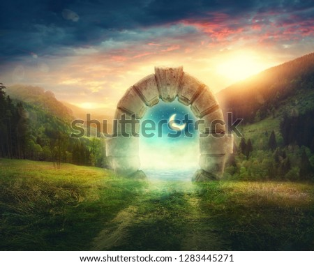 Mysterious entrance to new life or beginning