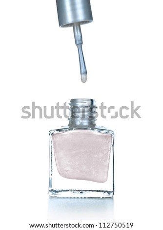 nail polish isolated on white background.
