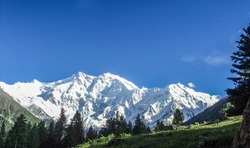 Nanga Parbat the ninth highest mountain in the world at 8,126m above sea level. Located in the Diamer District of Pakistan