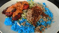'Nasi Kerabu Golok' tradisional food malaysia