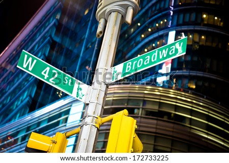 42nd street and Broadway intersection in New York's Times Square #172733225