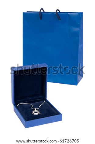 Necklace with gift bag