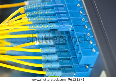 network cables and servers in a technology data cente